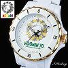 70周年記念ムーミン腕時計記念ロゴハイブリッドセラミックウォッチホワイト