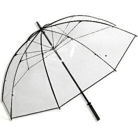雨傘テラボゼン 特大サイズ 大きいビニール傘 透明傘 ホワイトローズ 日本製
