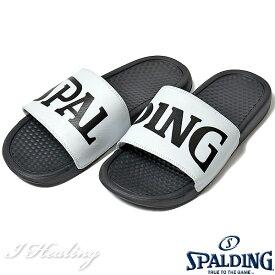 SPALDING スポーツサンダル メンズ ホワイト バスケットボール ビッグロゴ スポルディングSASH001M-WHITE