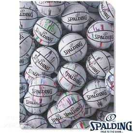SPALDING クリアファイルA4 2枚入り マーブルホワイト バスケットボール グッズ スポルディング15-007WM