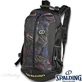 スポルディング リュック ケイジャー ブラックボール バスケットボール収納バッグ SPALDING40-007BKB