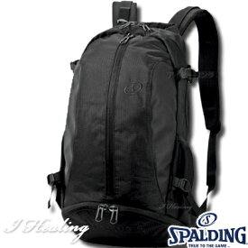 バスケットボール収納バッグ ケイジャー ブラックブラック スポルディング リュック SPALDING40-007BK
