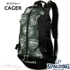 バスケ リュック スポルディング SPALDING ケイジャー ボールプリント バスケットボールバッグ 収納カバン 40-007BP
