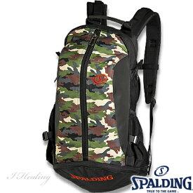 スポルディング バスケリュック ケイジャー ウッドランドカモ迷彩柄 バスケットボール収納バッグ SPALDING40-007WC01