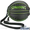 スポルディングボールバッグライムグリーンバスケットボール1個収納SPALDING49-001LG