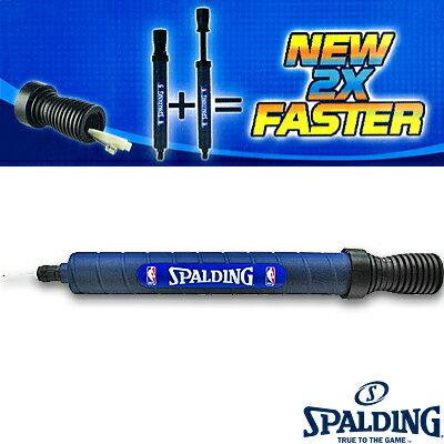 SPALDINGデュアルアクションポンプ30cm 早いバスケットボール空気入れ スポルディング8324CN