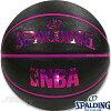 スポルディングバスケットボール6号キラキラホログラムブラックレッドラバーSPALDING83-661J