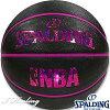 SPALDINGミニバスバスケットボール5号キラキラホログラムブラックレッド小学校子供用ラバースポルディング83-795J
