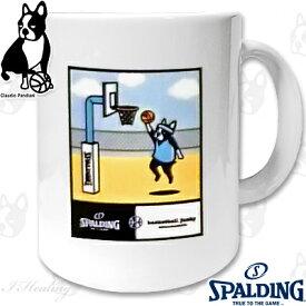 basketball junkyレイアップ力+1 楽しいスポーツ犬パンディアーニ君 バスケットボール マグカップ SPALDING BSK16210