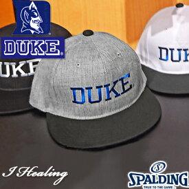 フラットキャップDUKE 帽子 バスケットボール スポーツ スポルディング デューク SPALDING SAC002DK【送料込Y】
