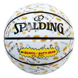 スポルディング ミニバス バスケットボール 5号 ビーバス アンド バットヘッド MTV ホワイト バスケ 84-069J 小学校 子供用 ゴム 外用ラバー SPALDING20AW