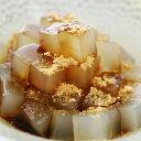 黒蜜きな粉角切ところてん 和風デザートに餡が入ってない角切りにカットしたところてんのあんみつタイプです asu