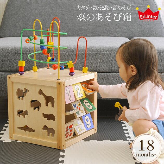 エド・インター 森のあそび箱 806487 ed.inter 木のおもちゃ 型はめ パズル 森の遊び箱 知育玩具 1歳半 2歳 楽器 木琴 おもちゃ ルーピング お誕生日プレゼント 【送料無料】