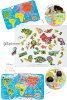 ジャノー 磁铁拼图世界地图英文版 92 P J05504 JANOD / 世界地图 / 拼图 / 木制玩具 / 英语 / 玩具 / 教育玩具 / 2 年/3 年 / 圣诞礼物