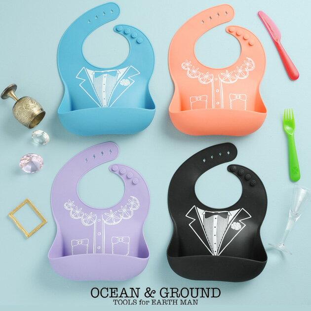 OCEAN&GROUND(オーシャンアンドグラウンド) ドレスアップオショクジBIB お食事エプロン スタイ ビブ ベビービブ ベビースタイ 赤ちゃん 出産祝い 【あす楽対応】
