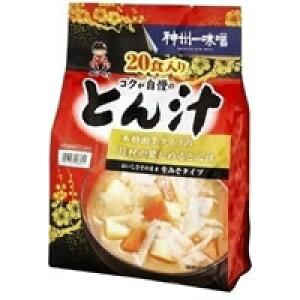神州一味噌 とん汁 生みそタイプ 20食(59g×20食入り)【PP】
