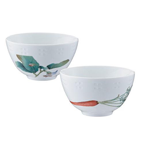 ノリタケ食器 【KYOUKASYUNSAI】京香旬彩 飯碗ペアセット(金時人参・加茂茄子)