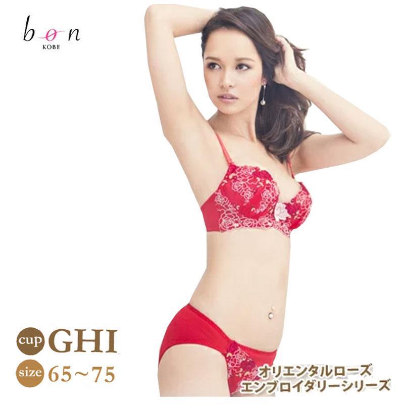 【BON】オリエンタルローズエンブロイダリーシリーズ ブラ&ショーツ[G・H・Iカップ] 702138-Q