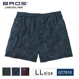 25%OFF ワコール wacoal メンズ BROS トランクス ジャストウエスト ノーマル丈 前開きタイプ 天然由来繊維の、なめらかさ リヨセル繊維 LLサイズ GT7010