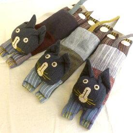 【Nepali Bazaro】 ネパリバザーロ アイピロー タマ [フェアトレード 手織り 猫 ネコ]