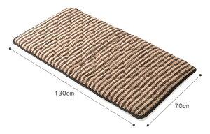 ごろ寝マットボーダーマットコンパクトキルティング仕様クッション性シートクッションふんわり中綿入り優しい風合い収納に便利持ち運び簡単どこでも広げられる休憩やお昼寝に使えるごろ寝快適中綿の片寄りを防ぐブラックレッド70cm×130cm