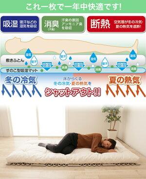 テイジンベルオアシス使用!すのこ型除湿マットダブルインパクトすのこマット除湿シート布団・ベッドで使える吸湿シート吸水マット調湿マット湿気取りマット日本製国産