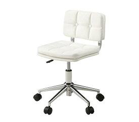イス チェア デスクチェア ホワイト パーソナルチェア 昇降機能 キャスター付き レトロ パソコンチェア オフィスチェア 椅子 昇降式 アンティーク