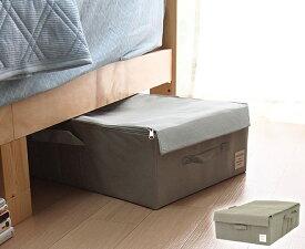 収納ボックス 収納ケース 幅39×奥行60×高さ18cm ストレリアナチュレ UBサイズ 選べる5色 ファブリック ライトグレー ピンクダークグレー ブラウン ブルー ファスナータイプ フタ付き 布 衣類ケース ベッド下収納 衣類収納