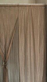 ハイゲージレースとひもの2重のれん 85cm×150cm ホワイト ブラウン 日本製 国産 紐のれん レース暖簾 ハイゲージレース ウェーブ柄 二重のれん 暖簾 リボン付き 和風 洋風 フリーポール シック エレガント 間仕切り 入口 玄関 リビング 目隠し