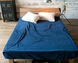 ベッドシーツ セミダブル 綿100% タオルのようなパイル・メレンゲタッチ・ エアリーパイル(Airy Pile) ベッドカバー マットレスカバー マットレスシーツ BOXシーツ ボックスシーツ ベッド用寝具 Fab the Home マットレス