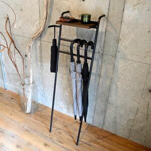 【ポイント10倍★9/25限定!】 アイアンアンブレラハンガー 傘立て 幅37.2cm スリム コンパクト ダークブラウン ハンガー おしゃれ オシャレ 玄関収納 北欧 折り畳み傘 シンプル かさ立て 収納