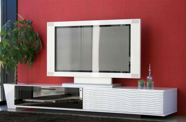 【送料無料】幅170cm ローボード シュール テレビ台 TVボード 薄型テレビ対応 波型デザインがアクセントのスマートで洗練されたデザイン フラップ扉と引出収納付きAV収納 テレビボード テレビラック TV台 TVラック AVボード AVラック テレビ収納 TV収納