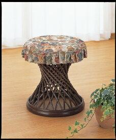 座椅子 フレーム支柱多数で美しい流線的なデザイン カバー付スツール イス・チェア 座椅子 籐製 座椅子 座イス 座いす 椅子 いす イス チェア チェアー 姿勢 腰痛 コンパクト 北欧 シンプル クッション 座布団 リラックスチェアー リビング 一人掛け 1人掛け