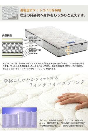 東京ベッドポケットコイルマットレスRev.7Nブルーラベルポケットコイルマットレスダブル国産スプリングコイルマットレスTOKYOBEDポケットコイルスプリングマットレスすぐれた体圧分散性点で支えるポケットマット
