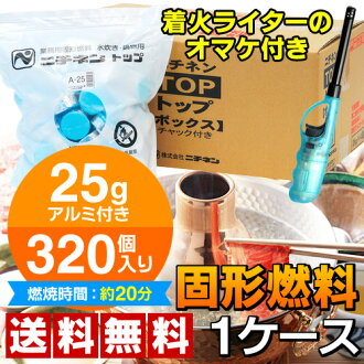 Solid-fuel bag 80 pieces set with aluminum 25 g x 4 Pack-320 pieces into 1 case ニチネン top box A05P24jul13fs3gm