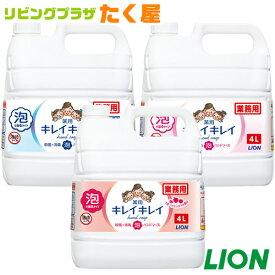 送料無料 / ライオン 大容量 業務用 キレイキレイ薬用泡ハンドソープ4L トイレや洗面所に!ご家庭でのストック・会社・ホテル・飲食店・病院等、幅広くご使用いただいています!