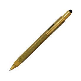 【即納可能】モンテベルデ(Monnteberude) ワンタッチ・スタイラス ツールペン ソリッドブラス ボールペン 1919392 メール便可