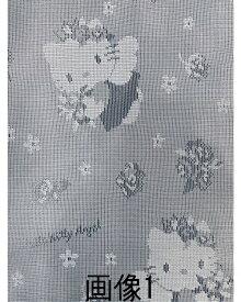 【 100×108cm(2枚組) 】 サンリオ ハローキティ(エンゼルキティ) ミラーレースカーテン [ キャラクター 大人 かわいい 2枚入り 2枚セット エンジェル 天使 腰窓 小窓 ローズ バラ] あす楽