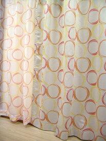 【 100×135cm(4枚組) 】 サークル 二級 遮光カーテン 同柄 ボイル カーテン 4枚セット [子ども部屋 かわいい おしゃれ 男の子 女の子 腰窓 出窓] あす楽 掃除 模様替え