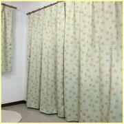 マーガレット二級遮光カーテンとボイルレース4枚セット100×135cm