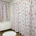 【 遮光カーテン 100×178cm(2枚組) 】 オーナメントローズ 3級遮光裏地付き2重カーテン (2枚セット) [バラ 薔薇 フレ…