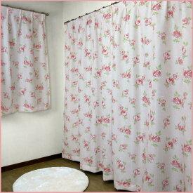 【 遮光カーテン 100×178cm(2枚組) 】 オーナメントローズ 3級遮光裏地付き2重カーテン (2枚セット) [バラ 薔薇 フレンチ トータルコーディネイト ロザリアン ゴシック かわいい 優雅 綺麗] あす楽 掃除 模様替え