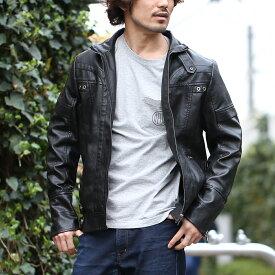 【送料無料】ライダースジャケット 革ジャン 本革調 ディテールにこだわった、本格派の風合い漂うジャケット メンズ 大きいサイズあり 2L 3L 4L
