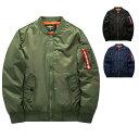 中綿 入り MA-1 ブルゾン ミリタリー ジャケット(3色/7サイズ) 大きいサイズあり