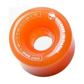 Arbor アーバー スケートボード スケボー ウィール ゴースト オレンジ 海外モデル アメリカ直輸入 海外正規品 Arbor Bogart Fusion- 61mm 78A Ghost Orange (Set of 4)