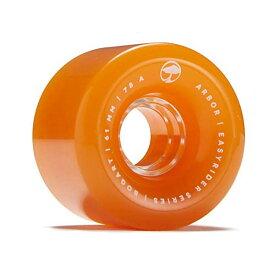 Arbor アーバー スケートボード スケボー ロングスケートボード ロングボード ウィール 61mm オレンジ 海外モデル アメリカ直輸入 海外正規品 Arbor Bogart Easyrider Longboard Wheels Orange 61mm 78A