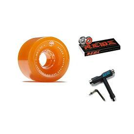 Arbor アーバー スケートボード スケボー ロングスケートボード ロングボード ウィール 61mm オレンジ ボーンズ ベアリング セット 海外モデル 海外正規品 Arbor Bogart Easyrider Longboard Wheels Orange 61mm 78A with Bones Reds Bearings and CCS Skate Tool