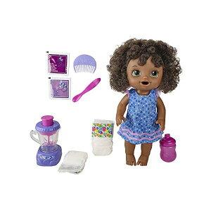 ベビーアライブ 赤ちゃん 人形 ベビードール おままごと 着せ替え フィギュア 知育玩具 Baby Alive Magical Mixer Baby Doll Berry Shake with Blender Accessories, Drinks, Wets, Eats, Black Hair Toy for Kids Ages 3 and Up