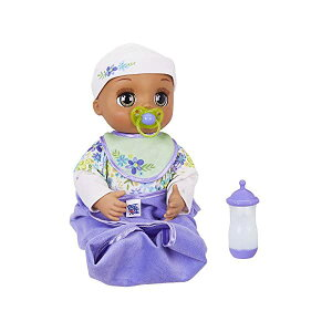ベビーアライブ 赤ちゃん 人形 ベビードール おままごと 着せ替え フィギュア 知育玩具 Baby Alive Real As Can Be Baby: Realistic Brunette Baby Doll, 80+ Lifelike Expressions, Movements & Real Baby Sounds, with Doll Accessori