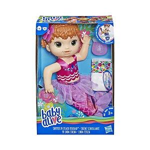 ベビーアライブ 赤ちゃん 人形 マーメイド 人魚 ベビードール おままごと 着せ替え フィギュア 知育玩具 Baby Alive Shimmer 'n Splash Mermaid Red Hair